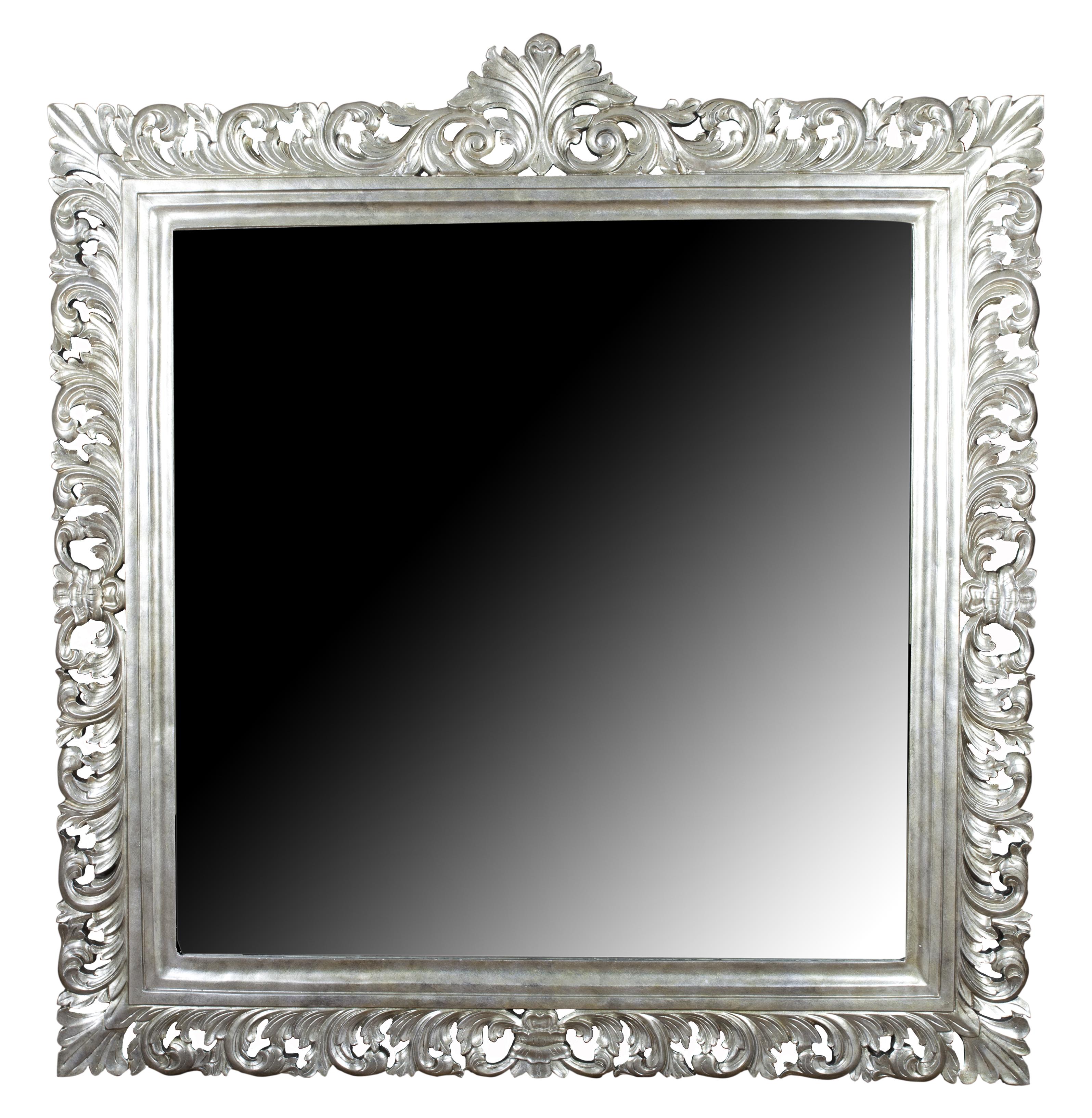 Spiegel vierkant zilver antique 120 x 120 rofra home meubelen en interieur accessoires - Spiegel x ...