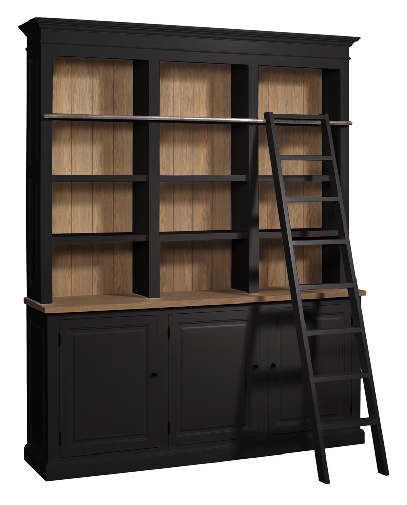 schrank cardiffoni leiter vintage schwarz. Black Bedroom Furniture Sets. Home Design Ideas