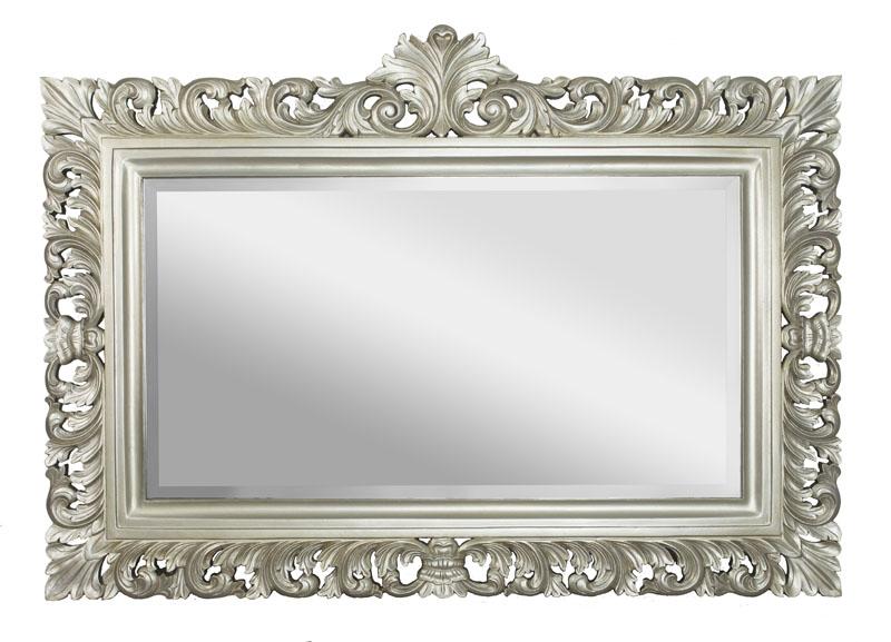 Spiegel barok silber antique 168 x 120 for Barok spiegel