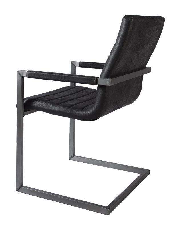 sessel industrial wave firence eco leder schwarz uni. Black Bedroom Furniture Sets. Home Design Ideas