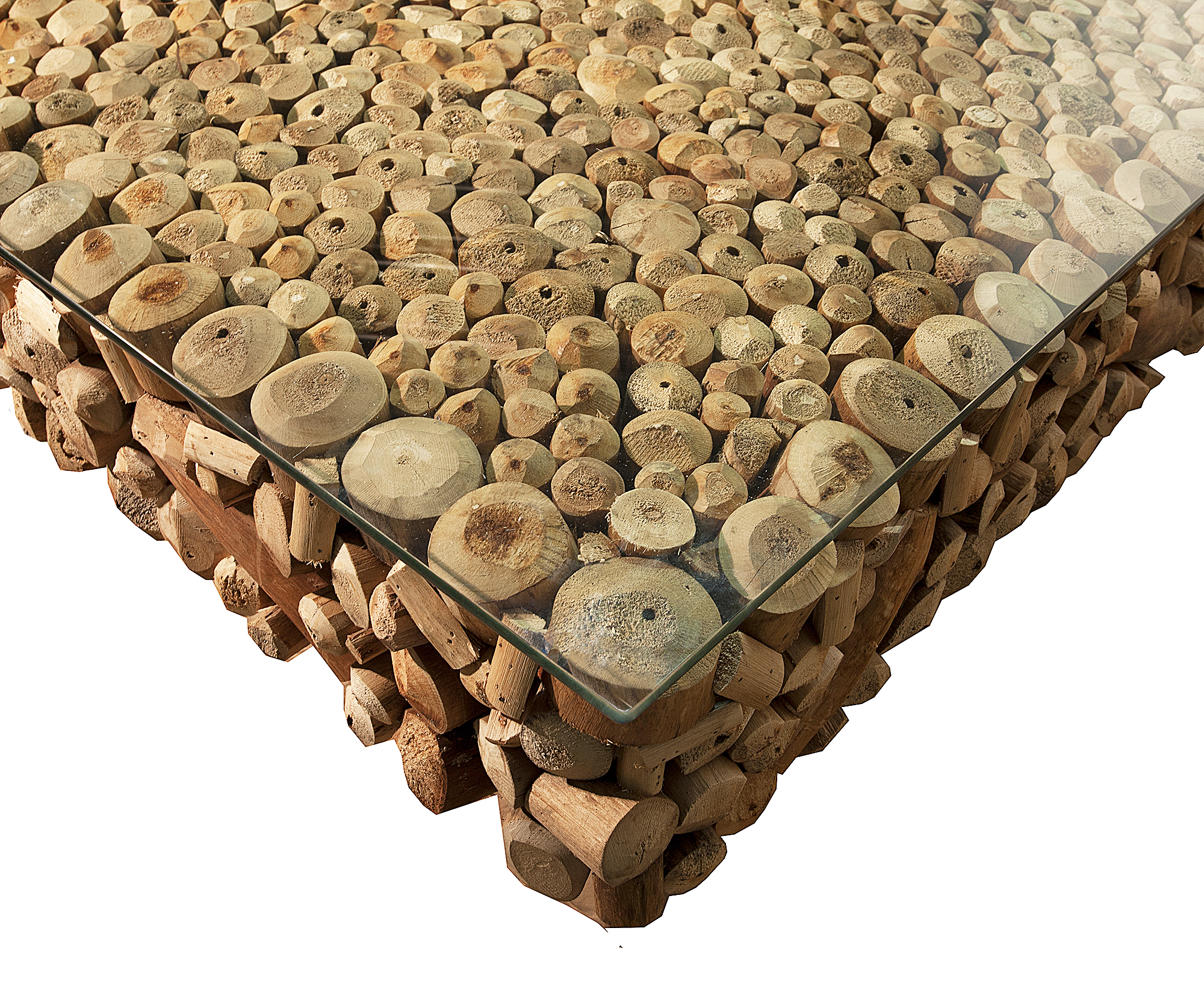 COFFEE TABLE DRIFTWOOD AVANT GARDE 120 x 120 STAINLESS