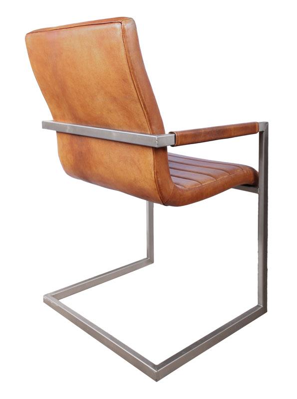 sessel industrial wave cognac. Black Bedroom Furniture Sets. Home Design Ideas