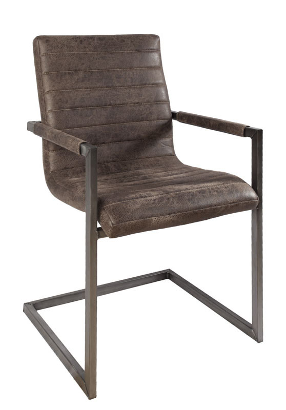 sessel industrial wave firence eco leder donker braun. Black Bedroom Furniture Sets. Home Design Ideas
